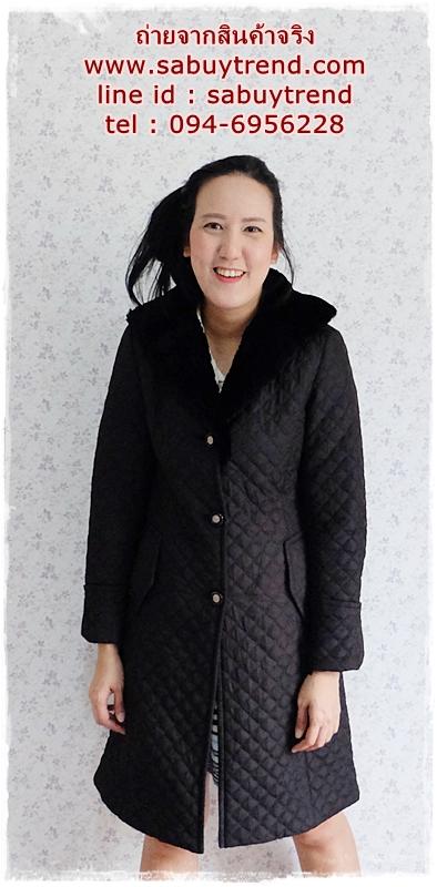((ขายแล้วครับ))((จองแล้วครับ))ca-2788 เสื้อโค้ทกันหนาวผ้าร่มสีดำ รอบอก36