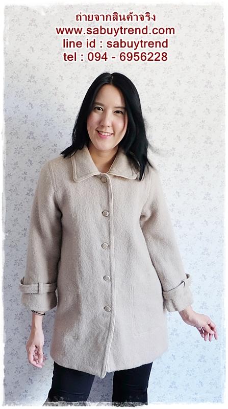 ((ขายแล้วครับ))((คุณnungจองแล้วครับ))ca-2539 เสื้อโค้ทกันหนาวผ้าถักสีเทา รอบอก38