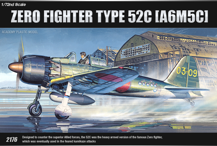 AC12493 ZERO FIGTHER TYPE 52C (A6M5c) (1/72)