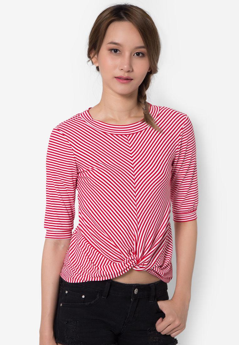 เสื้อเบลาส์ Twisted Striped