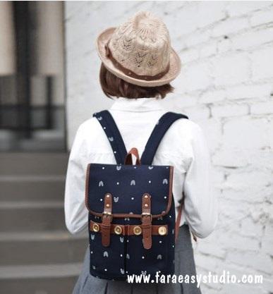 กระเป๋าเป้ยี่ห้อ Super Lover สาวญี่ปุ่นเกาหลีผ้าใบหญิงอังกฤษมินิศิลปะญี่ปุ่น (Preorder)