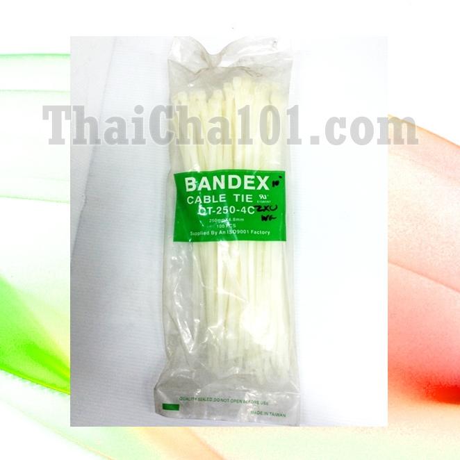 CABLE TIES ยี่ห้อ BANDEX สีขาว 10 นิ้ว