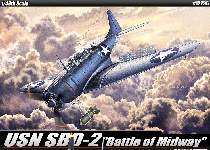 """AC12296 USN SBD-2""""BATTLE OF MIDWAY"""" 1/48"""