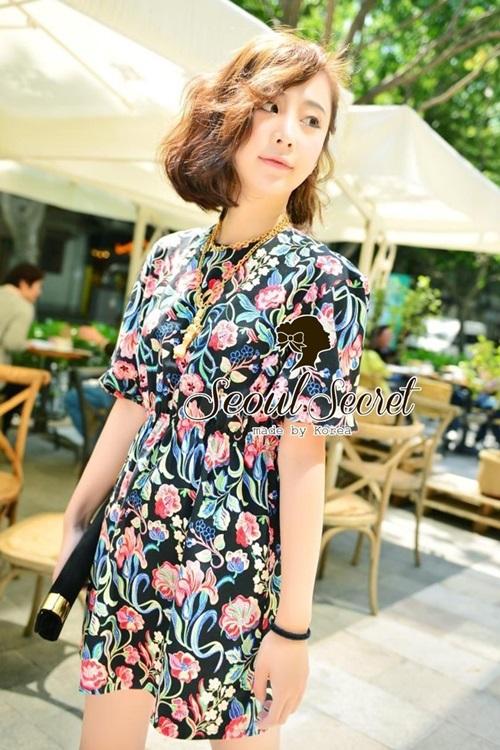 Seoul Secret Chic &Cool Blossom Print Dress