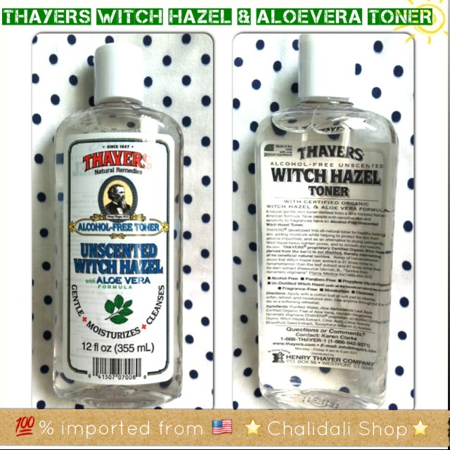 THAYERS AlcoholFree Unscented Witch Hazel Toner with Organic Aloe Vera