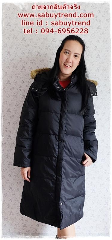 ((ขายแล้วครับ))((จองแล้วครับ))ca-2821 เสื้อโค้ทขนเป็ดสีดำ รอบอก44