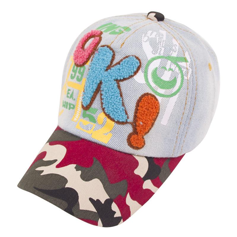 หมวก Camouflage Denim Embroider