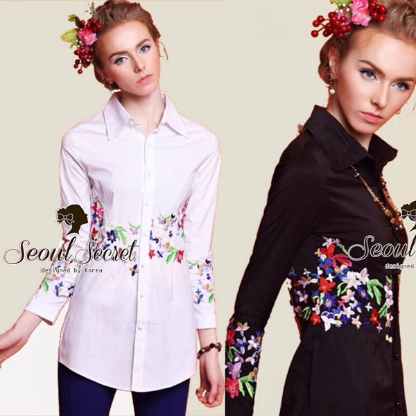 Charlotte Embroider Shirt by Seoul Secret