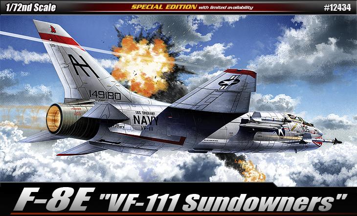 AC12434 F-8E VF-111 SUNDOWNERS 1/72