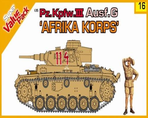 DRA9116 Pz.Kpfw.III Ausf.G AFRIKA KORPS (1/35)