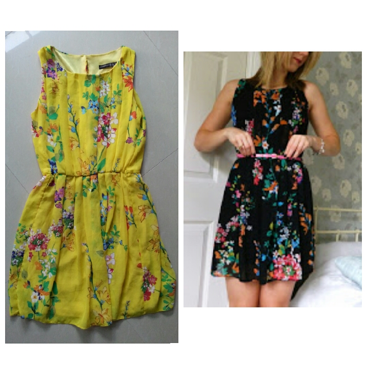 Primark Floral Yellow Dress Size uk10