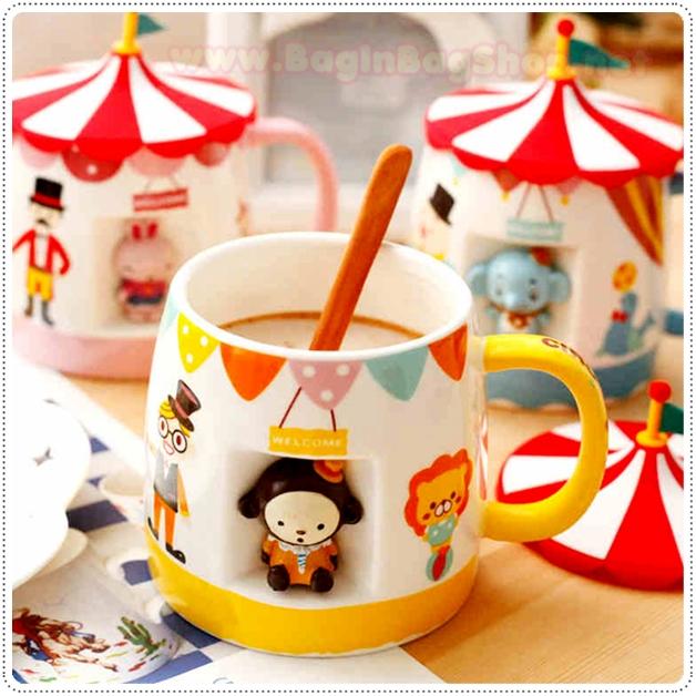 Super Cute Cup ถ้วยน้ำสุดน่ารักพร้อมฝาปิด