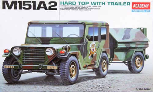 AC13012 M151A2 HARD TOP with TRAILER(1/35)