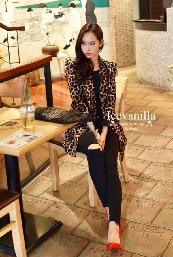 Icevanilla Lovely LEOPARD Jacket and Suit
