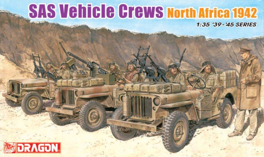 DRA6682 SAS VEHICLE CREWS NORTH AFRICA 1942 1/35