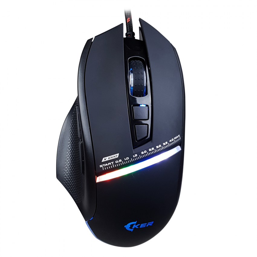 เม้าส์ OKER V68 Laser Mouse Gold Series RGB