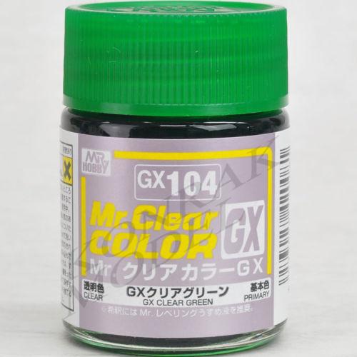 GX104 CLEAR GREEN 18ML