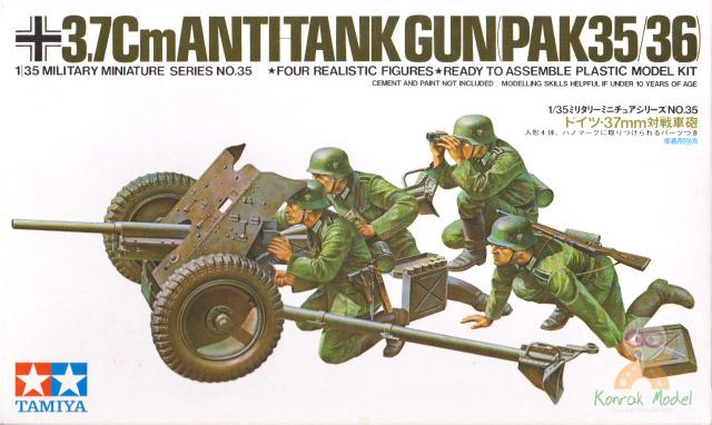 TA35035 1/35 Ger. 37mm Anti-tank Gun Kit