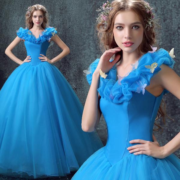 (เช่าชุดราตรี-สุขุมวิท105) ชุดราตรี <สีฟ้า> รหัสสินค้า LS-EVL0671