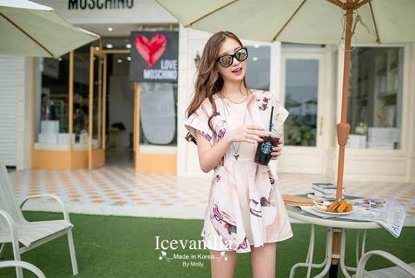 Icevanilla Nana Summer Print Dress