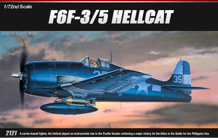 AC12481 GRUMMAN F6F-3/5 HELLCAT 1/72