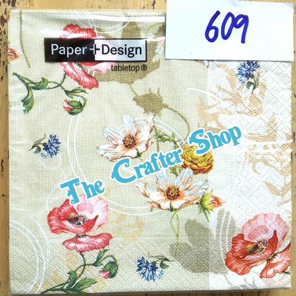 napkin ลายดอกไม้ (รหัสสินค้า NA-609)