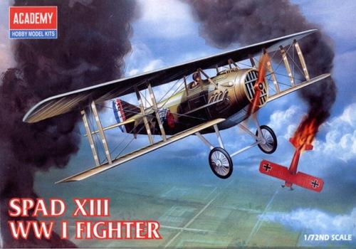 AC12446 SPAD XIII WWI FIGHTER(1/72)