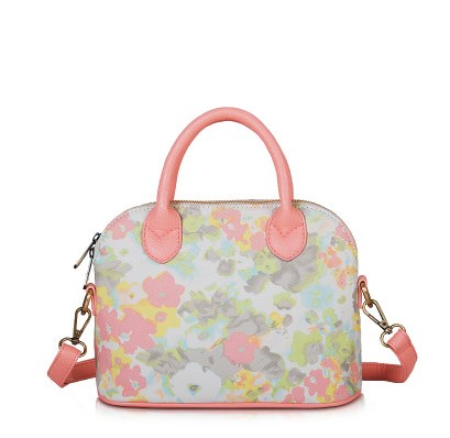 กระเป๋าถือสะพายข้างยี่ห้อ Super Lover ดอกไม้ญี่ปุ่นสีหวาน (Pre-Order)