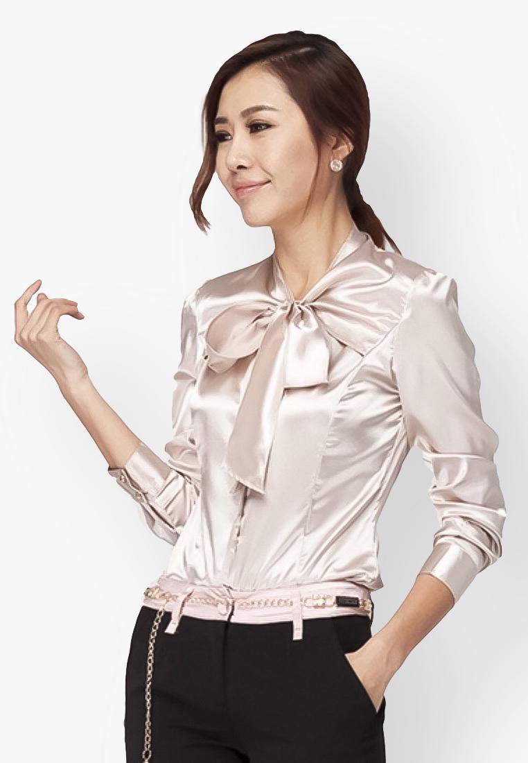 เสื้อเชิ้ต Lantern Sleeve Silk