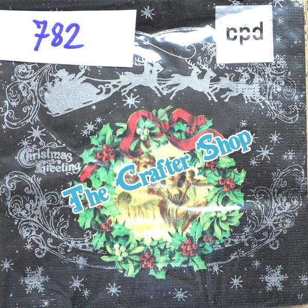 napkin ลายคริมาสต์ (รหัสสินค้า NA-782)