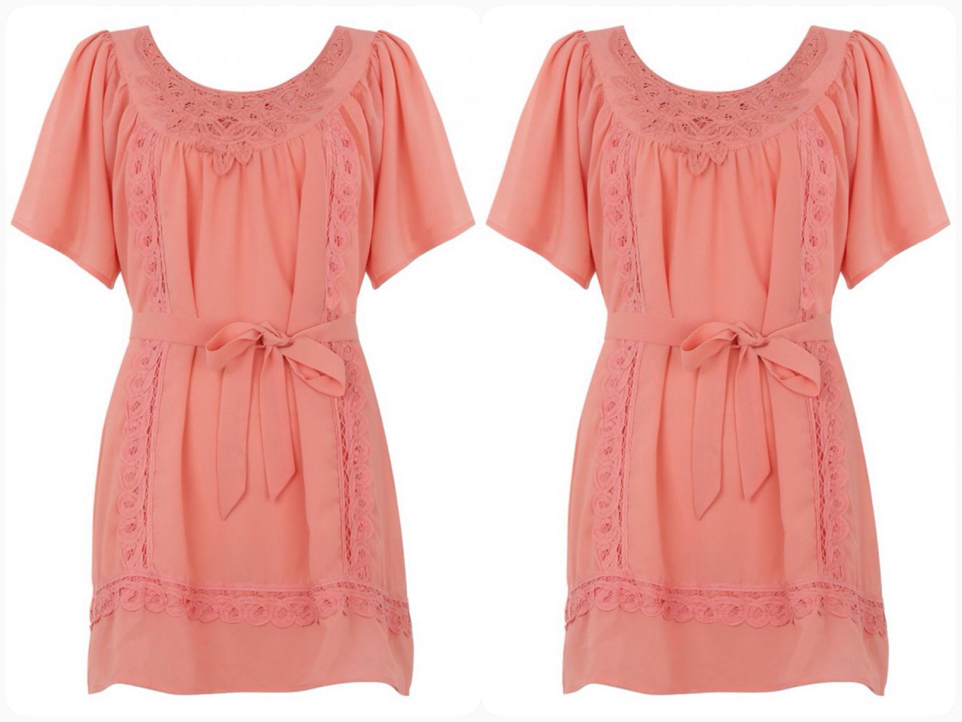 Lipsy Orange Dress Size uk8