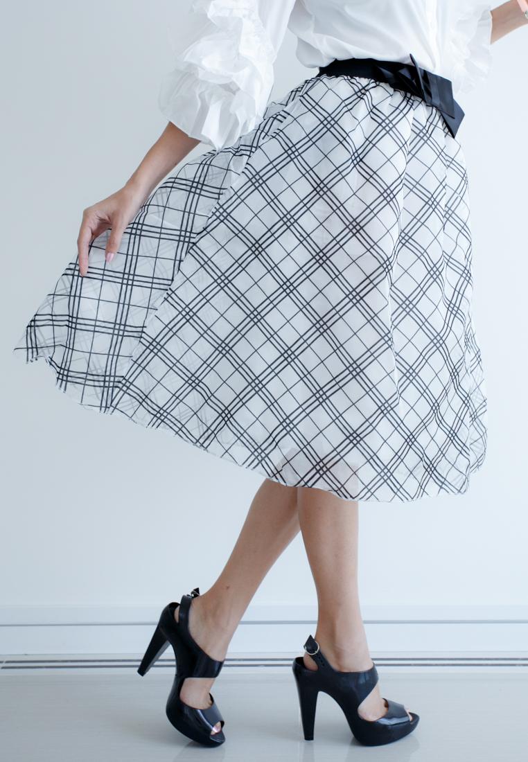 Mirror Dress's 3D Net Skirt - Linear