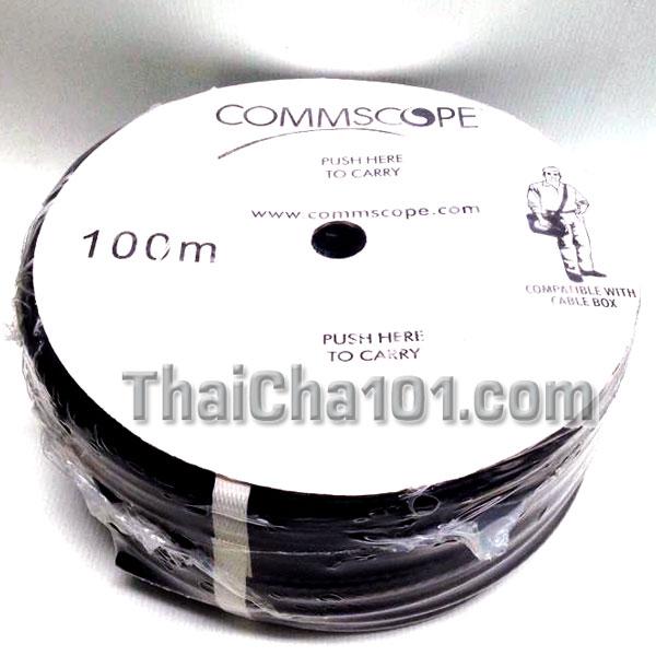 สายRG6 COMMSCOPE สีดำ100ม.