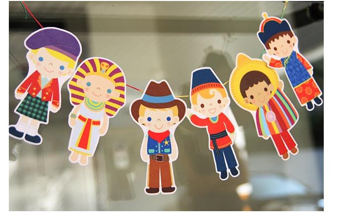 ผ้าสักหลาดเกาหลี ตุ๊กตาพื้นบ้าน (Boy) 1mm มี 7 แบบ ขนาด 45x30 cm/ชิ้น (Pre-order)