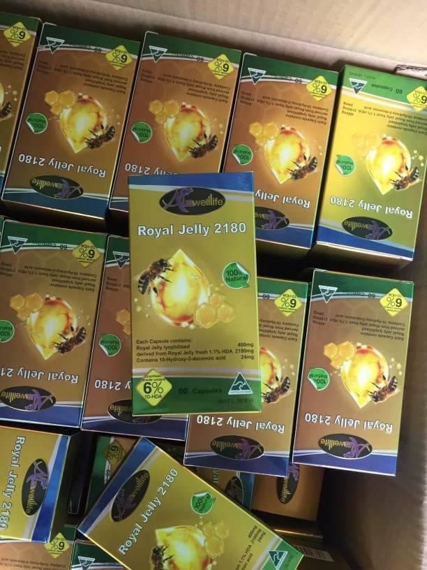 Auswelllife Royal Jelly 2,180 mg. ออสเวลไลฟ์ นมผึ้งเกรดพรีเมื่ยม