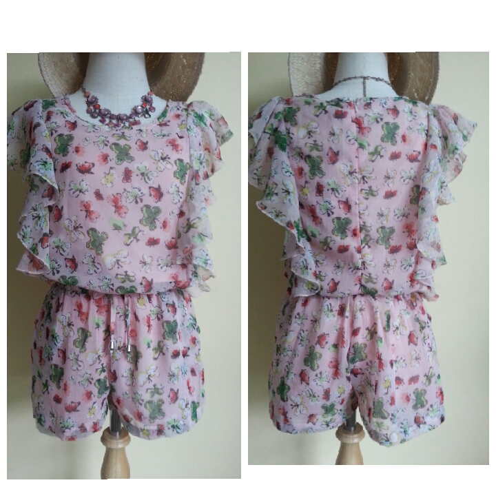 Missterious Butterfly Frill Playsuit Size s/m
