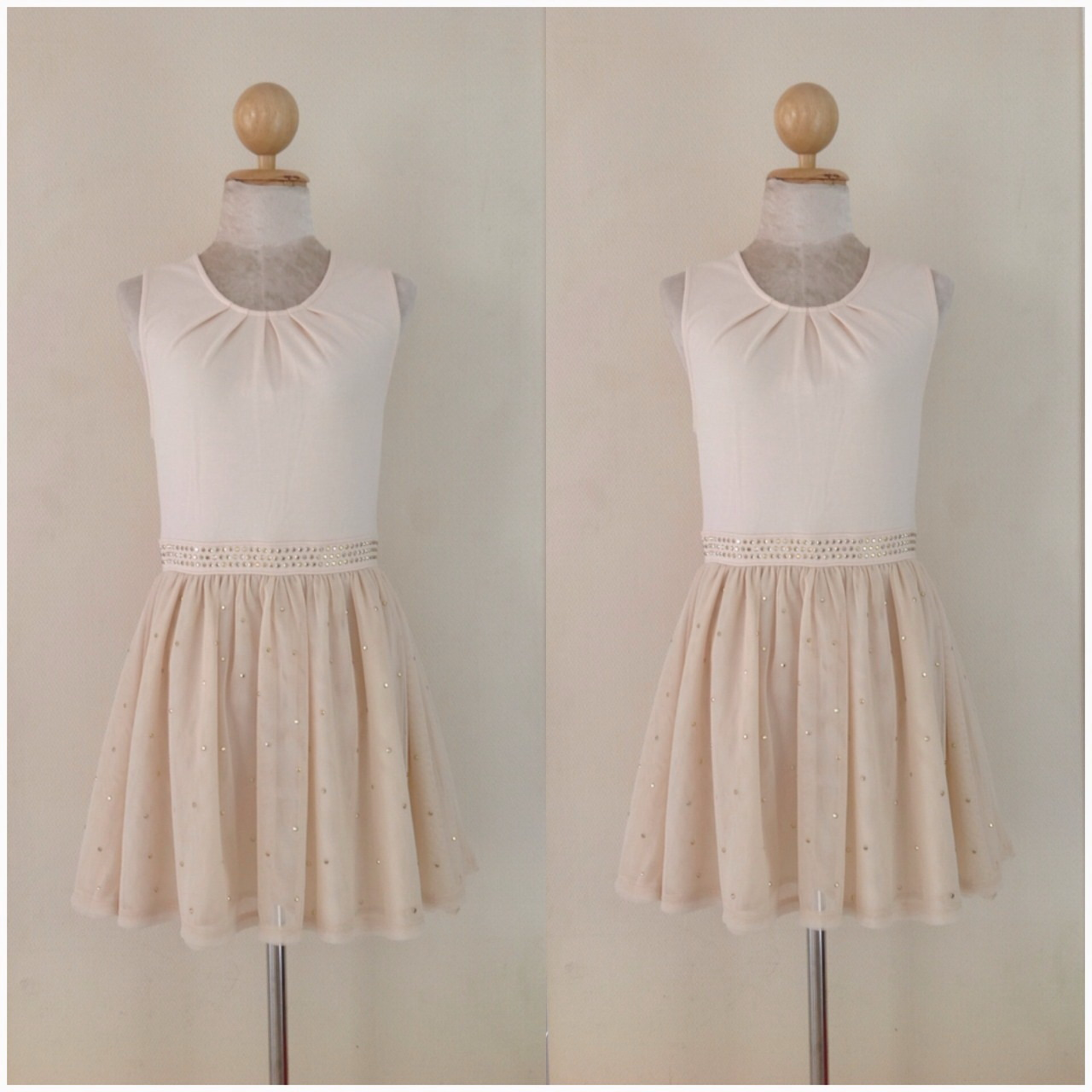 Topshop Nude Dress Size Uk8-Uk10