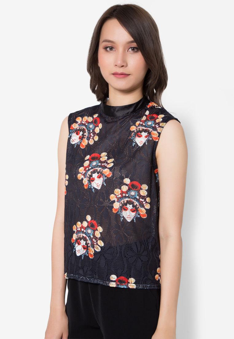 เสื้อเบลาส์ Chinese Opera Perforated