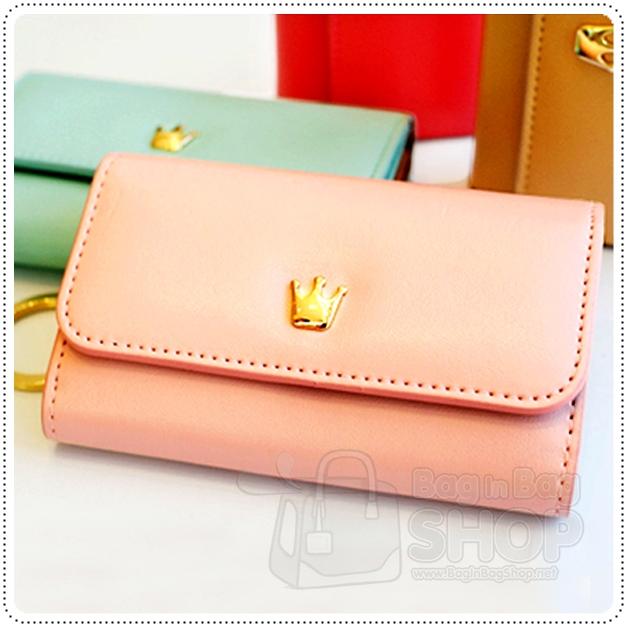 Crown keyring card wallet กระเป๋าใส่กุญแจ