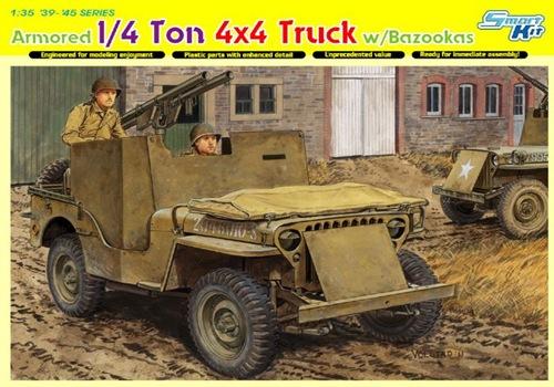 DRA6748 4x4 ARMORED TRUCK W/BAZOOKA (1/35)