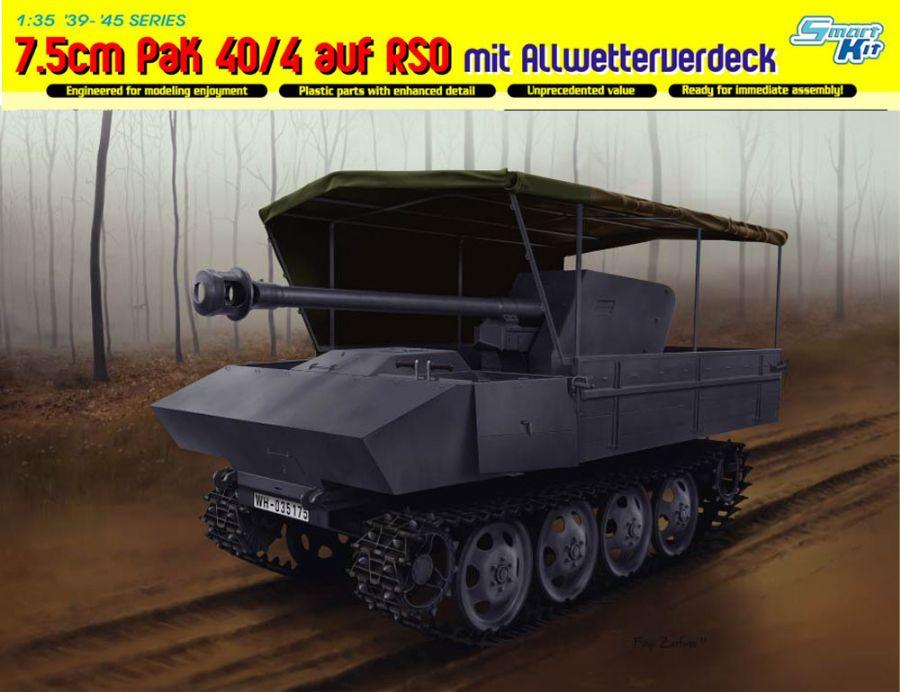 DRA6679 7.5cm PAK 40/4 AUF RSO MIT COVER 1/35 SCALE