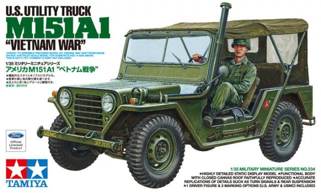 TA35334 US Utility Truck M151A1 (1/35)