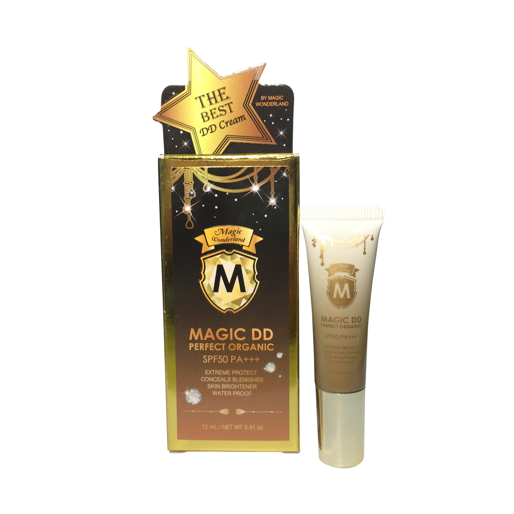 Magic DD Perfect Organic by Magic Wonderland 12 g. เมจิค ดีดี ครีม เกลี่ยง่าย แห้งเร็ว กันเหงื่อ กันน้ำ
