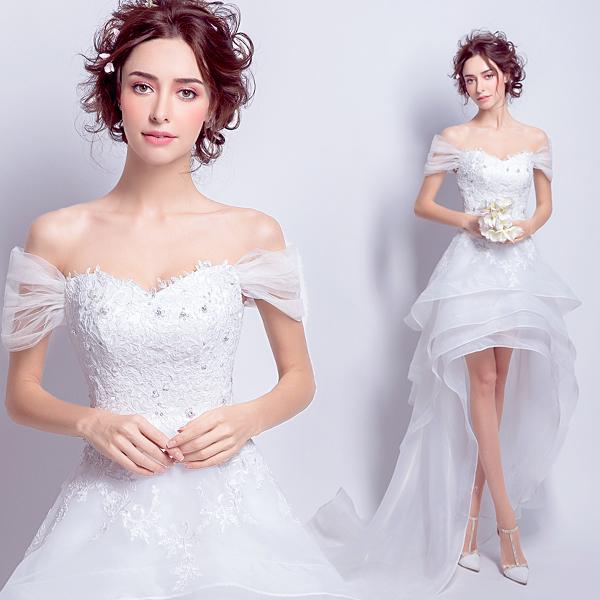 (Pre-Order) ชุดแต่งงาน <ไหล่ปาด> รหัสสินค้า WDS0142