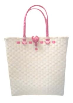 กระเป๋า ก้นเหลี่ยม หูสีชมพู (AU-F5)ขนาดโดยประมาณ กว้าง 10 cm.ยาว 35 cm.สูง 34 cm.