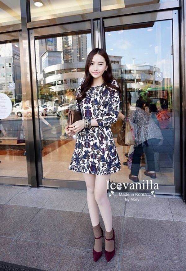 Icevanilla Romantic Rose Vintage Dress