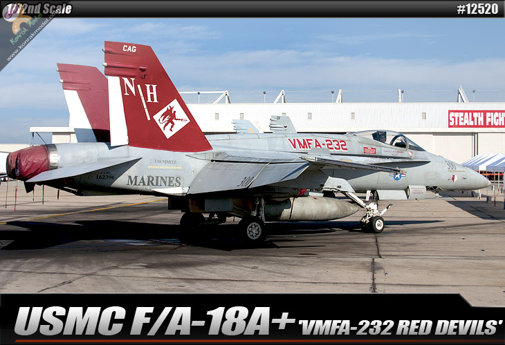 AC12520 USMC F/A-18+ 'VMFA-232 RED DEVILS' 1:72