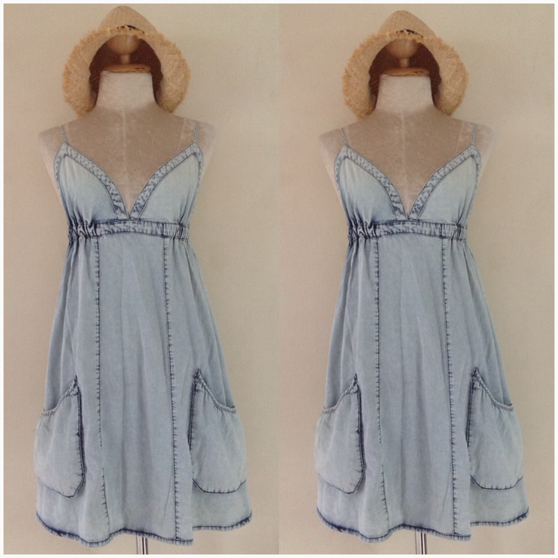 Miss selffridge Denim Style Sundress Size Uk12