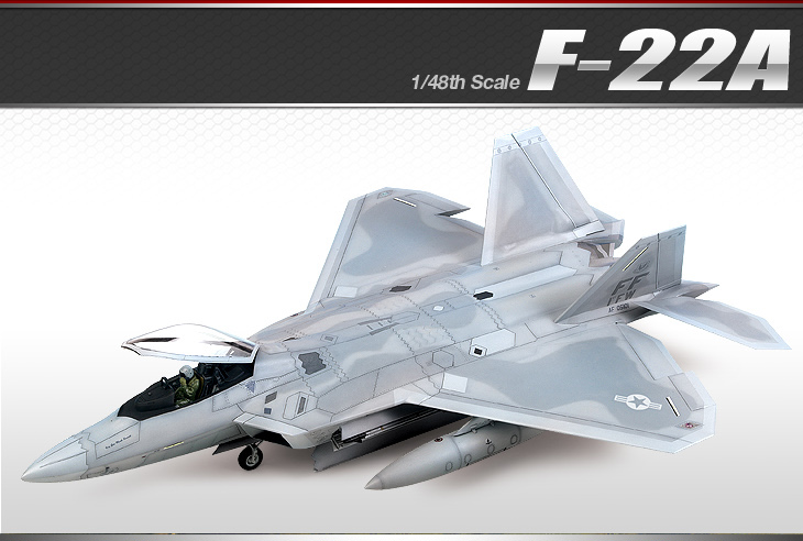 AC12212 F-22A AIR DOMINANCE FIGHTER 1/48