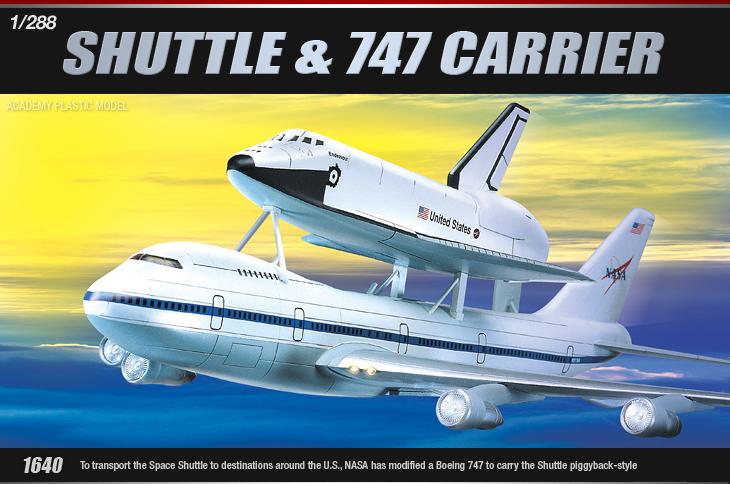 AC12708 SHUTTLE & 747 CARRIER (1/288)